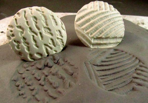 Argile biscuit timbres main sculptée SAMP (2) pour l'argile de grès, argile polymère, argile de métal et artisanat. (0010)