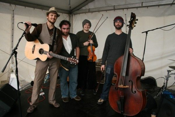 One of Winter Magic's big hits, The Crooked Fiddle Band. Really nice people too. Photo by Phil Beer.