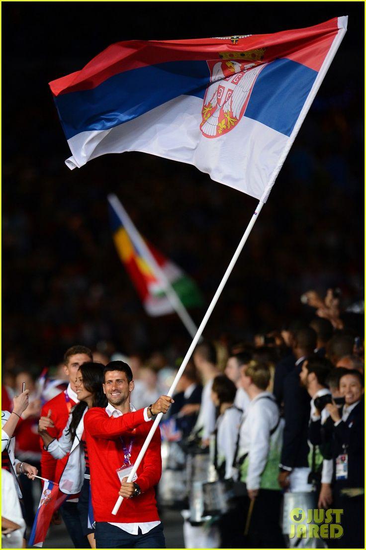Maria Sharapova & Novaj Djokovic: Olympic Flag Bearers!