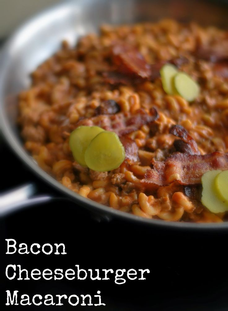 Bacon Cheeseburger Macaroni | Aunt Bee's Recipes | Aunt Bee's Recipes...