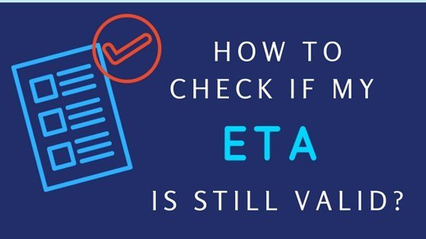 How do i check the status of my ETA?