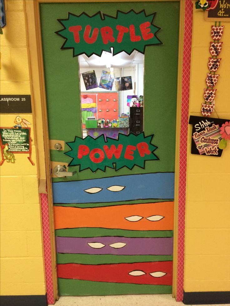 Classroom Decor Superhero : Ninja turtle power door for my classroom things