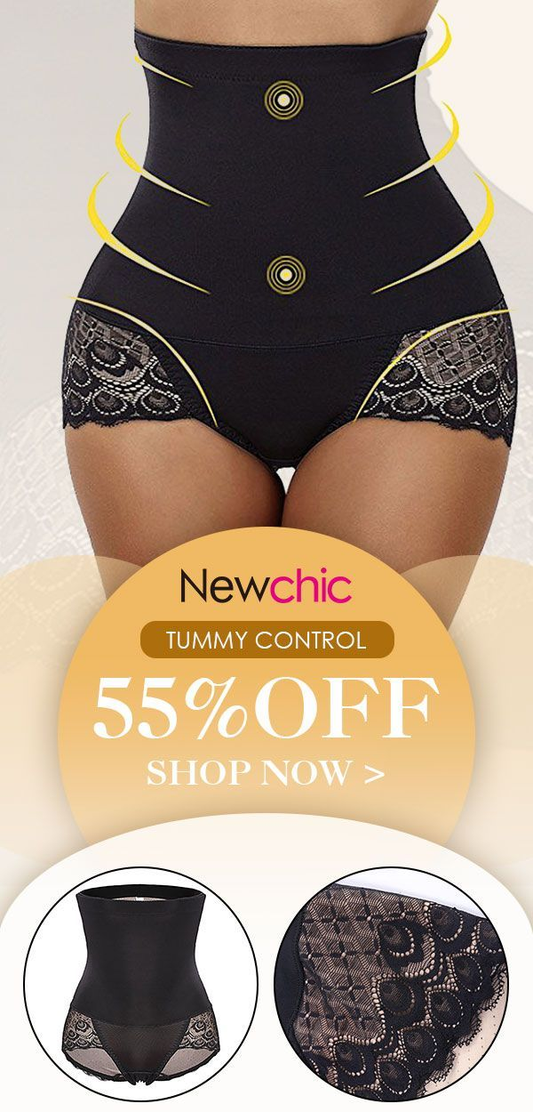 bb1e87a45a5 High Waist Lace-trim Tummy Control Hip Lifting Shapewear Panties  shapewear   bodysuit  hiplifting  tummycontrol  lace  panties