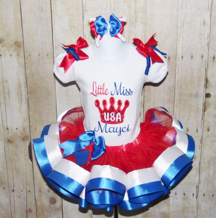 4th of July Ribbon trim tutu! Red white and blue ribbon tutu, 4th of July outfit, Independence day tutu, 4th of July pageant dress, USA by MommaMays on Etsy https://www.etsy.com/listing/235697730/4th-of-july-ribbon-trim-tutu-red-white