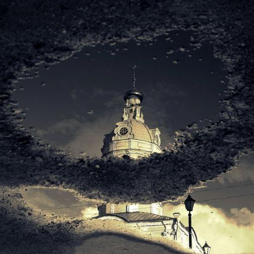 In reflection by Dennis Sarazhin