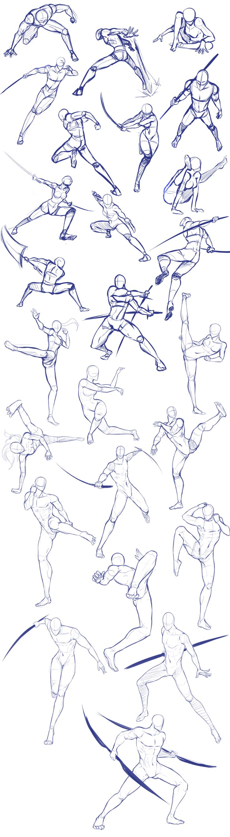 Battle/action poses by Antarija on DeviantArt