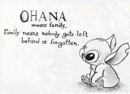 """I LOVE Stitch!!  """"Ohana means family. Family means nobody gets left behind or forgotten."""""""
