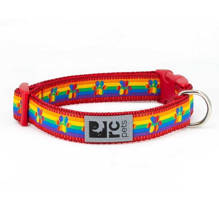 Rainbow Paws Adjustable Clip Dog Collar By Rc Pets In 2020 Pets Dogs Bags