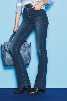 High Waist Enhancer Boot Cut Jeans (123479X57) | £30