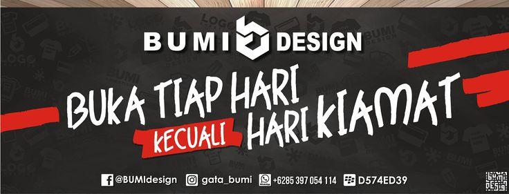 "BUMI DESIGN ""OPEN ORDER""  ""Make AWESOME Everything in Your Mind At BUMI Design""  More Info : FB : BUMI Design Call/WA/LINE : +6285 397 054 114 BB : D574ED39 IG : gata_bumi  #BUMIdesign #BUMIadvertising #BUMIsablon #bajuBUMI #ScreenPrinting #MyJOBmyHOBBY #LOGO #DESIGN #Tshirt #Merchandise #sablon #DistroCloth #KaosKEREN #desainKEREN #SoutCelebes"