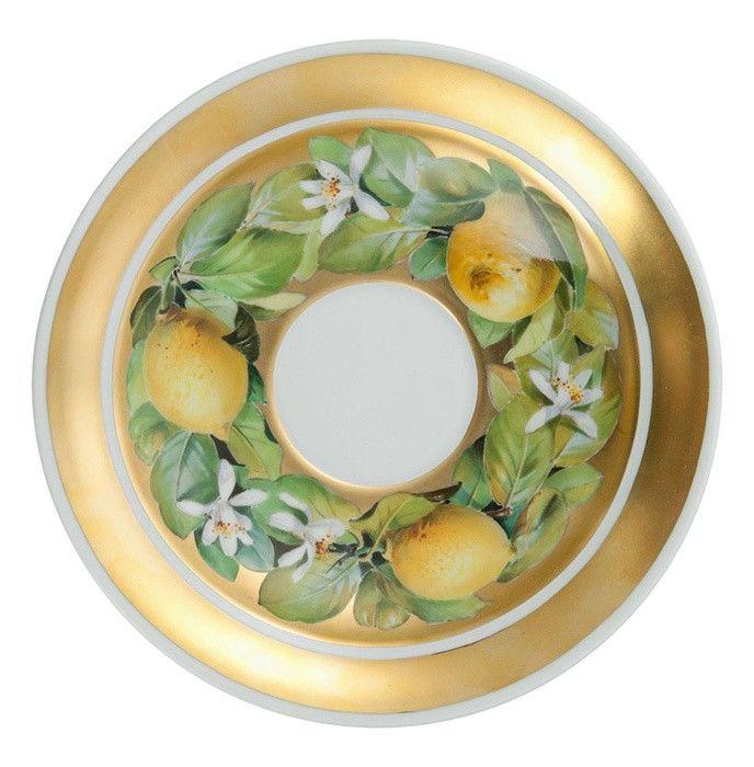 "Coffee breakfast set ""Lemon blossom"", naturalistic style"