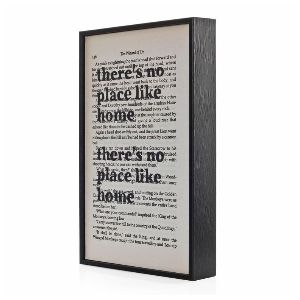 Wall Envy Art 'There's No Place Like Home' Framed Vintage Book Page: 'There's no place like home', printed on to original vintage pages from the classic novel, 'The Wizard of Oz'. A great house warming gift. The frame can be stood up by themselves or hung flush to the wall. The vintage book pages are framed in ethically sourced wood, and handmade in Northamptonshire. The quotation is printed using a hand drawn font, made exclusively for Wall Envy Art and the original book pages make each one…