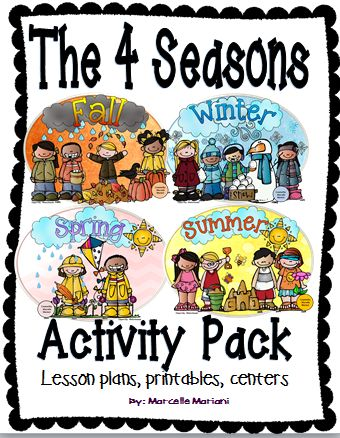 the 4 seasons activities pack four seasons lesson plans literacy math science a well the o. Black Bedroom Furniture Sets. Home Design Ideas