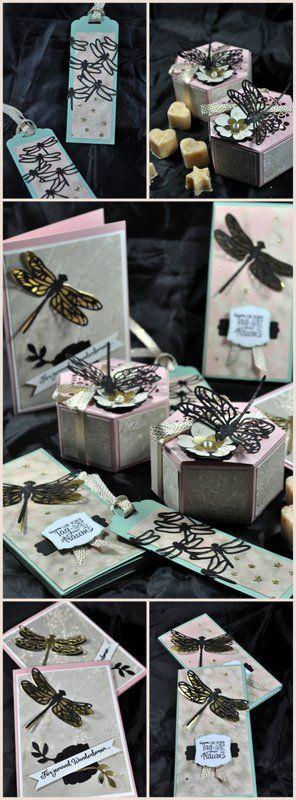 dragon-fly cards, boxes, verpackungen und Karten mit den Libellen von stampin up