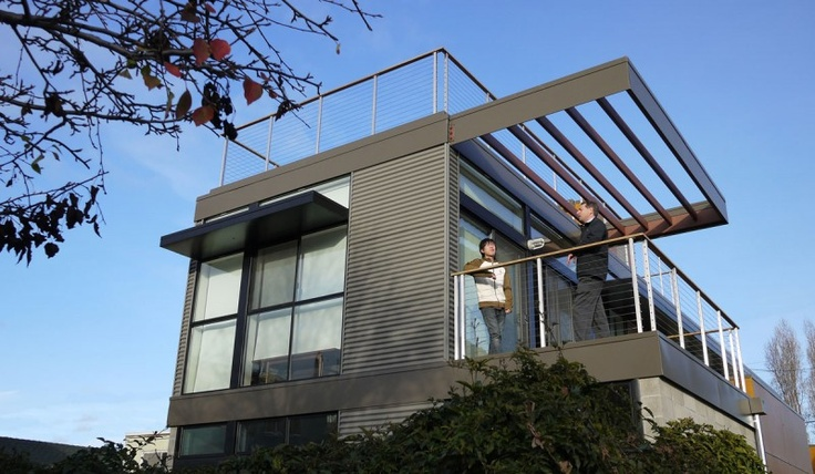 Net Zero Prefab Prototype in Emeryville by Simpatico Homes | HomeDSGN, a daily source for inspiration and fresh ideas on interior design and home decoration.