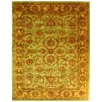 Heritage Green/Gold 9 ft. 6 in. x 13 ft. 6 in. Area Rug