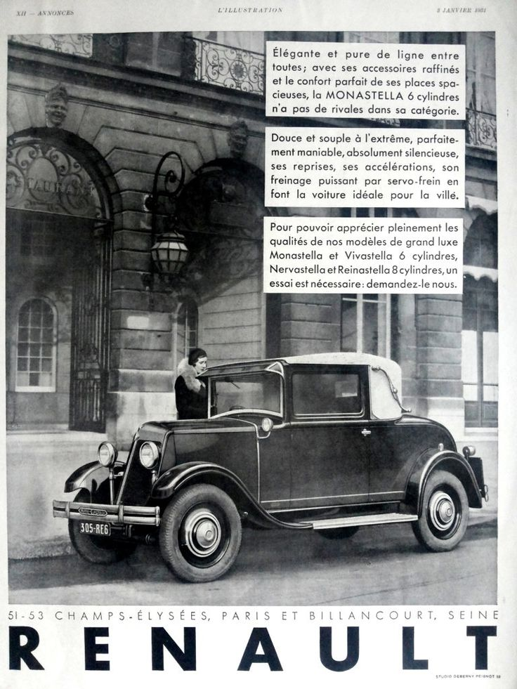Renault poster vintage advertising original art deco ad retro poster a3 from french magazine lillustration 1931 car poster renault ad