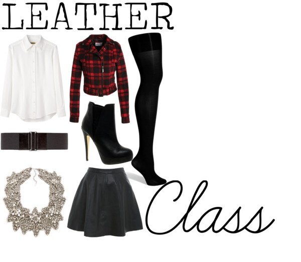 """LEATHER Class"" by michelleanned on Polyvore"