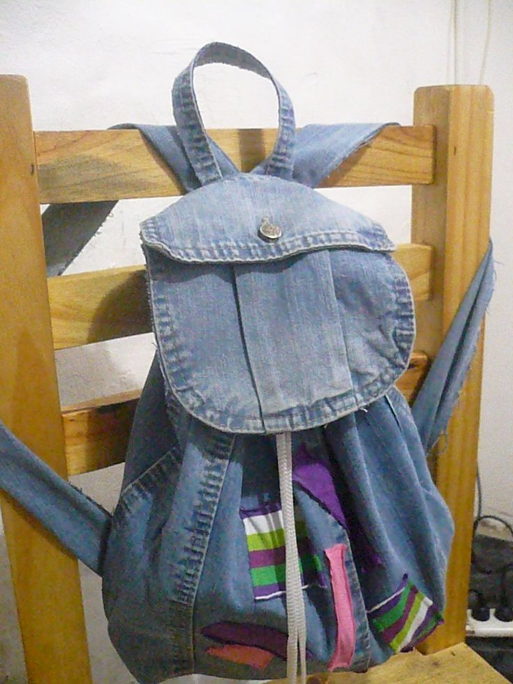 mochila de jeans viejo: