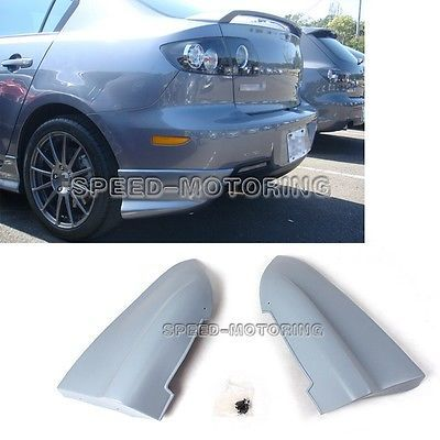 Rear Splitters Flaps Bumper Cupwings Aprons Kits Fit For Mazda 3 Axela 2006-2008