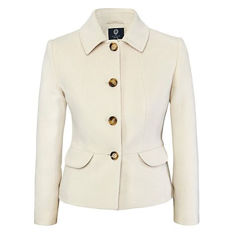 Buy Viyella Petite Cashmere-Blend Teddy Jacket, Blonde Online at johnlewis.com