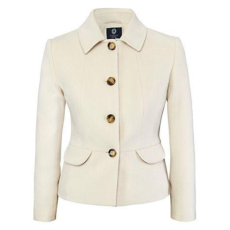 Buy Viyella Petite Cashmere-Blend Teddy Jacket, Blonde Online at johnlewis.com