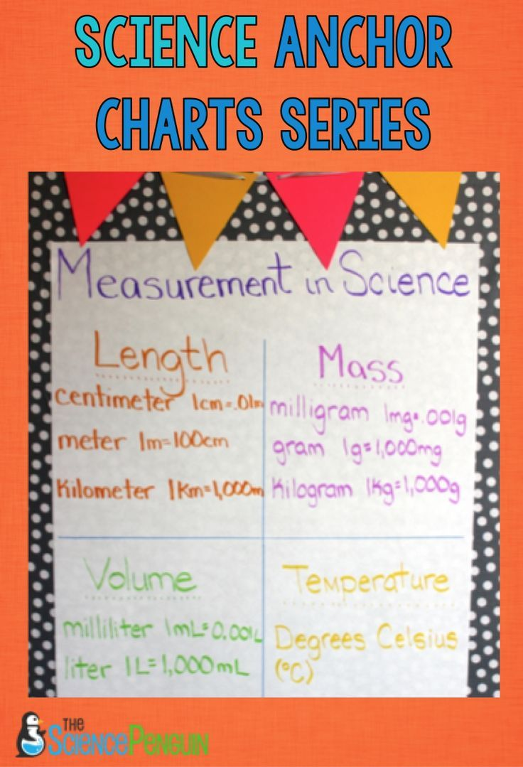 Physical Science Anchor Charts