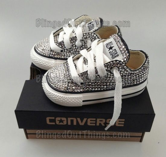 Rhinestone converse.. My little girl will have these!