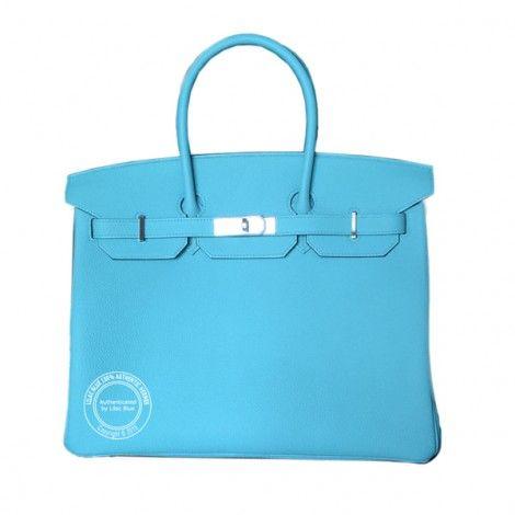 35cm Bleu Atoll Birkin in Togo Leather with Palladium Hardware.  35cm Bleu Atoll Birkin in Togo Leather with Palladium Hardware. Another pretty blue from Hermes.  For more info: whatsapp +44 7887 or https://lilacblue.com/product/35cm-bleu-atoll-birkin-togo-palladium/ #hermes #spring #new #bleu #togo #palladium #hermeslondon #authentichermes #b35 #birkinbag #hermeslondon #atoll