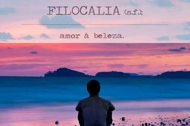 Amor à beleza. Filocalia. Glossário.