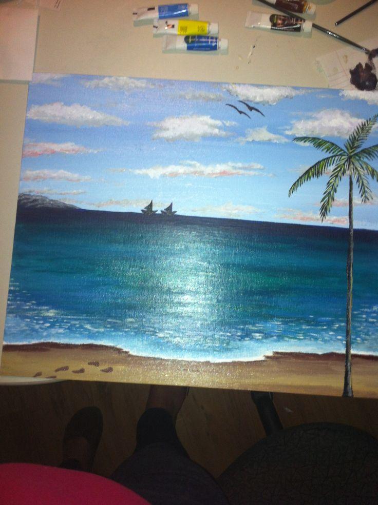 Cuba beach painting