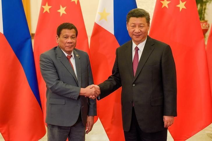 Philippine President Rodrigo Duterte said on Friday Chinese counterpart China Xi Jinping had warned him there would be war if Manila tried to enforce an arbitration ruling and drill for oil in a disputed part of the South China Sea.