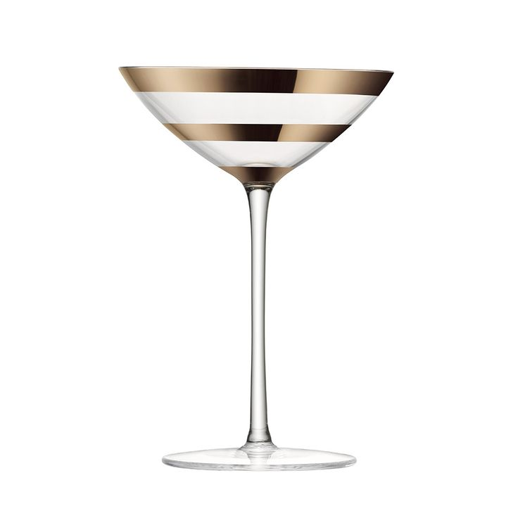 Discover the LSA Garbo Thick Blush Gold Bands Cocktail Glass - Set of 2 at Amara