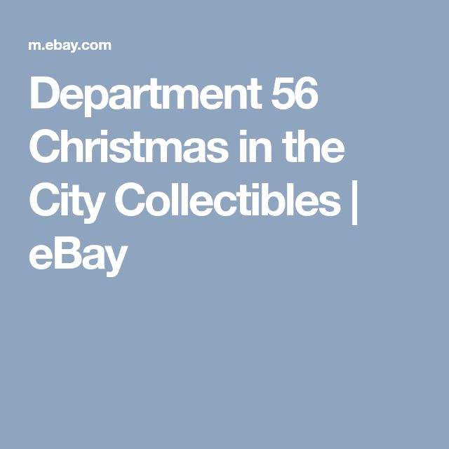 Department 56 Christmas in the City Collectibles | eBay