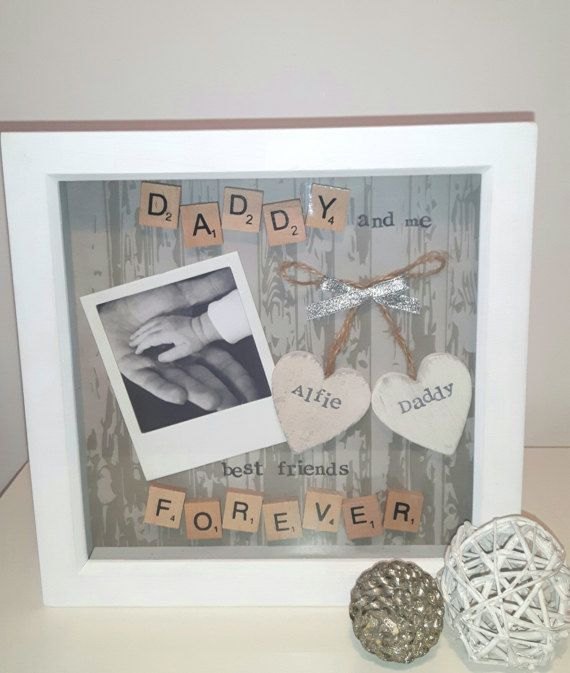 Check out this item in my Etsy shop https://www.etsy.com/uk/listing/499912772/personalised-daddy-frame-scrabble-art