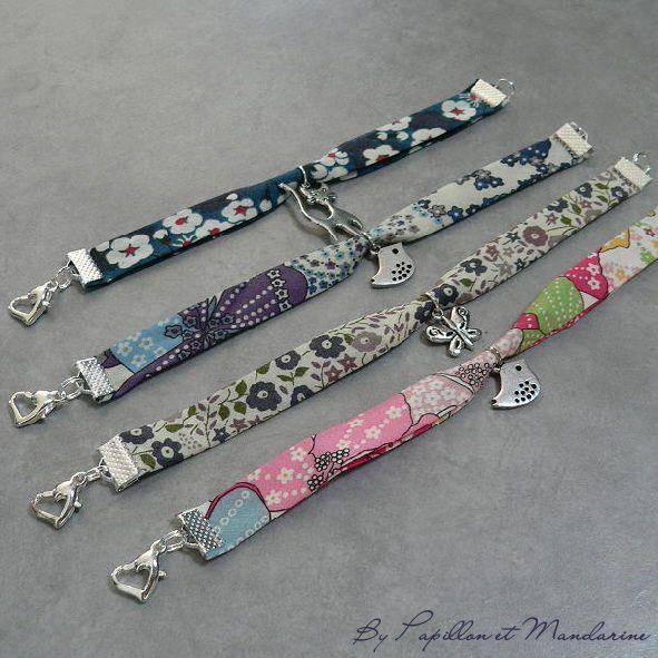 bracelets en biais liberty
