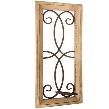 Natural Wood & Metal Swirl Wall Sconce   Hobby Lobby ... on Wall Sconces Hobby Lobby id=19994