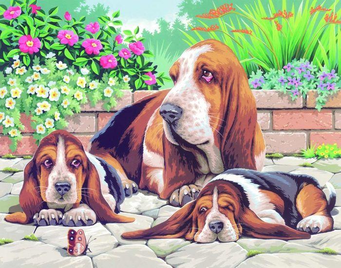 Картинки по запросу выкройка собаки бассет хаунд