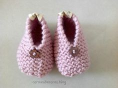 carmenbecares.blogspot.com: TUTORIAL. PATUCOS BEBE III ( dos agujas). BABY BOOTIES. KNITTED TUTORIAL