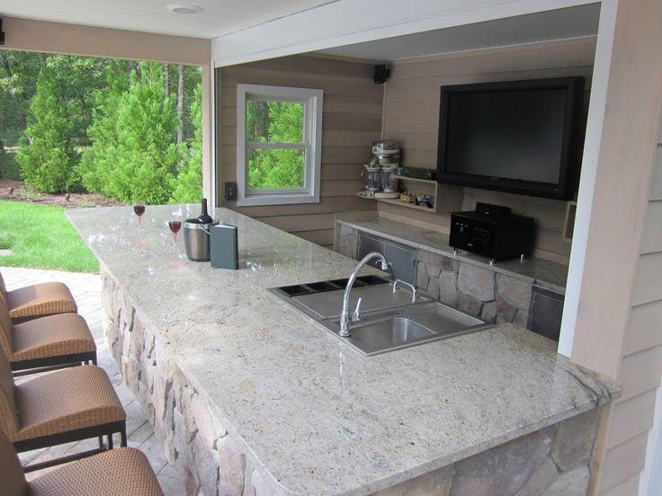 16' x 20' Pool House/Cabana with custom entertainment area and storage room - Hampton Bays, Long Island NY