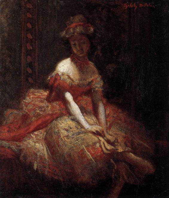 Bertalan Székely, Dancer, c. 1875 Oil on canvas