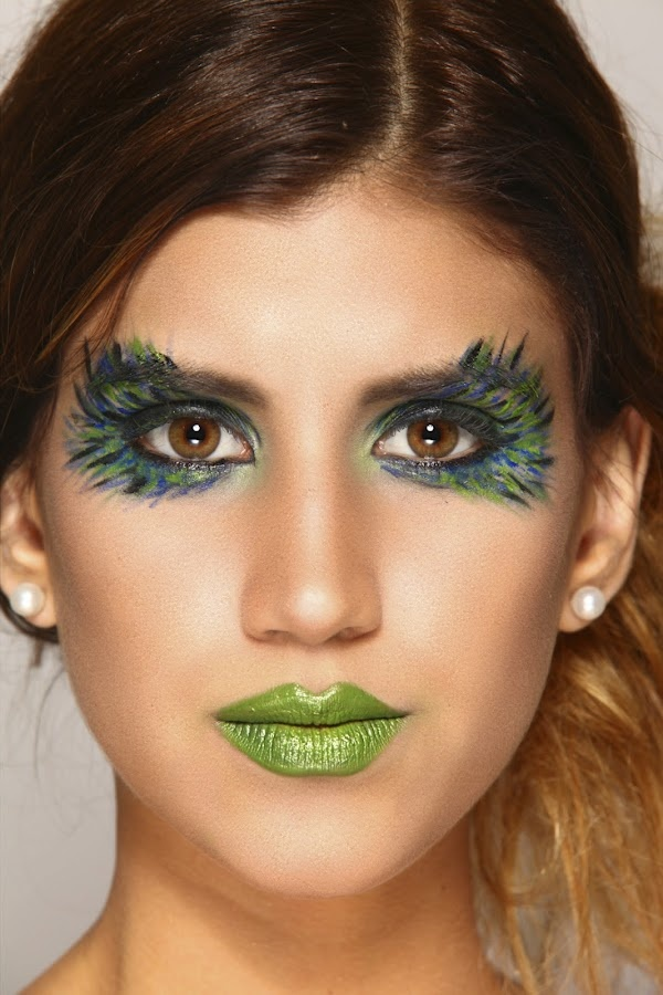 Feather Eyes Cool Makeup Ideas Carnavales