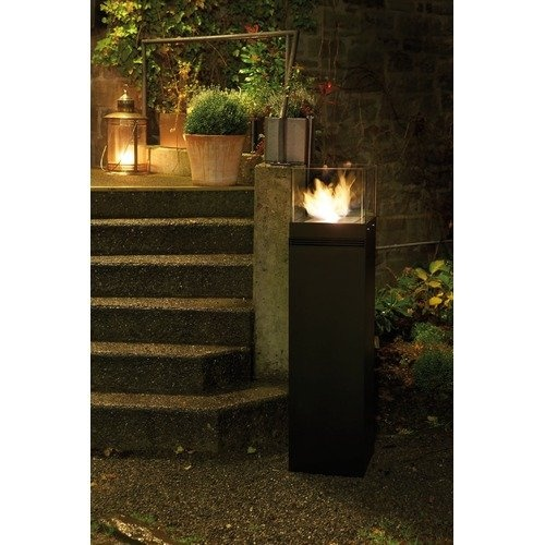 Buschbeck hi cube fire dance tower bio ethanol indoor for Ethanol outdoor fire pit