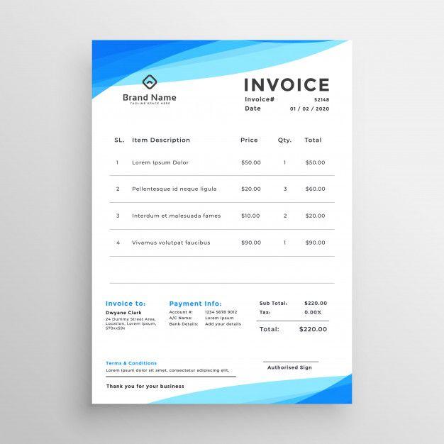 Download Elegant Blue Minimal Style Invoice Template For Free Invoice Template Templates Vector Free