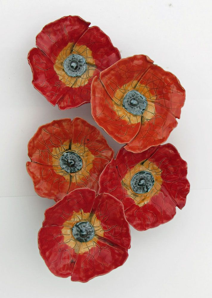 Poppy Field: Amy Meya: Ceramic Wall Art | Artful Home