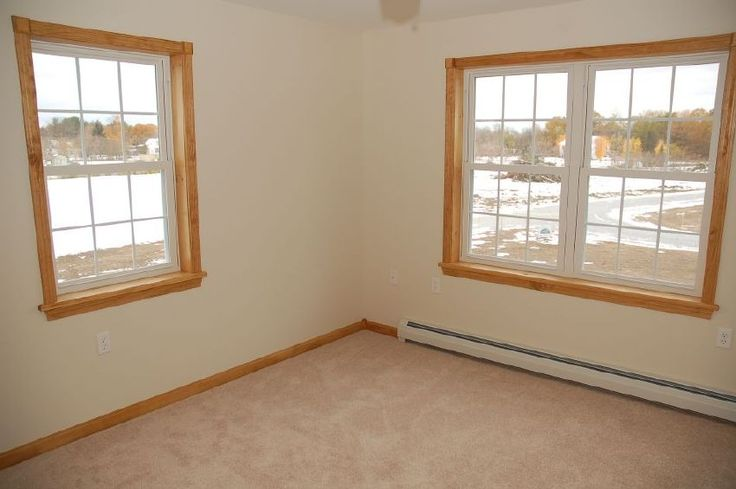 Pine Trim White Vinyl Window Google Search House