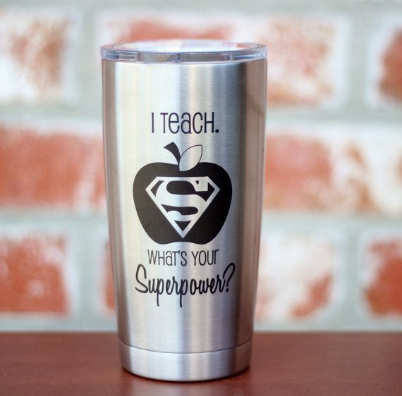 Everyone loves their YETI! Make yours stand out with personalization. This listing is for a 20 oz YETI Rambler personalized with I Teach Whats Your