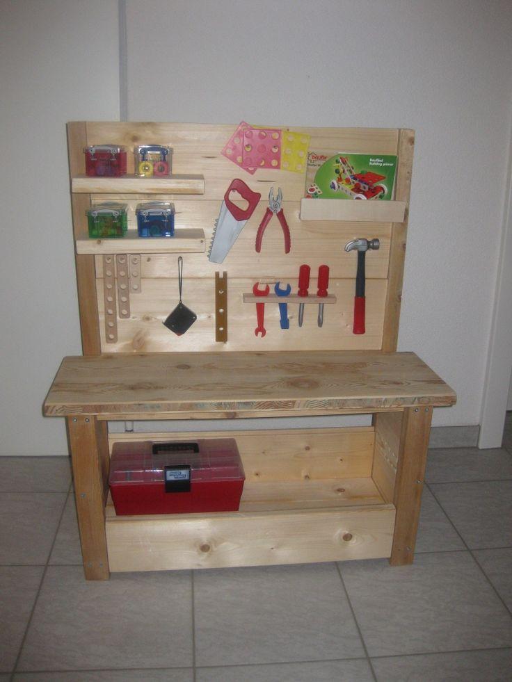 Kinder-Werkzeugbank Bauanleitung zum selber bauen (Woodworking Bench)