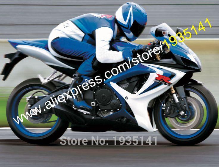 Hot Sales,For Suzuki GSX-R600 GSX-R750 K6 06 07 GSXR600/750 2006 2007 Blue Black White Aftermarket Fairing (Injection molding)
