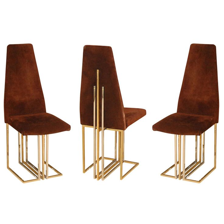Set Of Six High Back Pierre Cardin Dining Chairs | From a unique collection of antique and modern dining room chairs at http://www.1stdibs.com/furniture/seating/dining-room-chairs/
